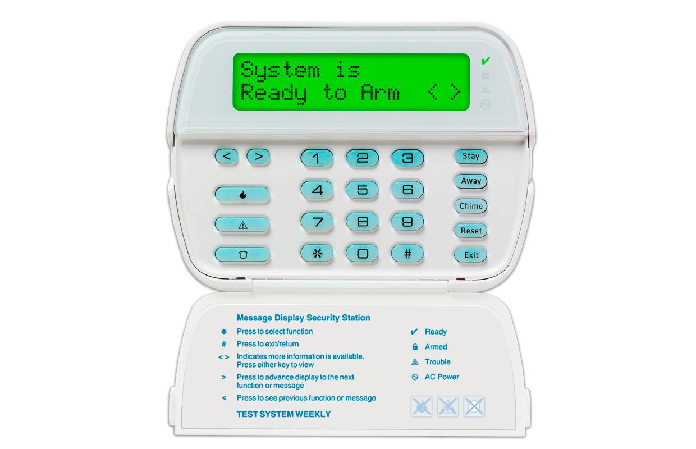 Imagen del teclado alfanumérico LCD de 64 zonas de la marca DSC
