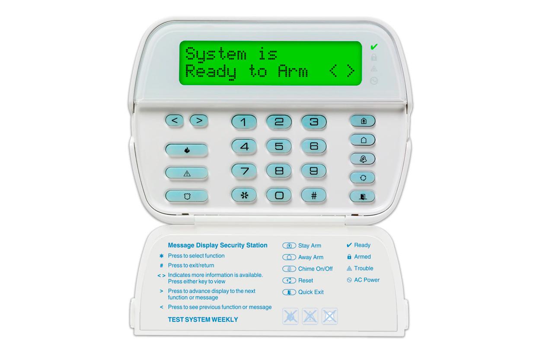 Imagen del teclado alfanumérico LCD rfk5564 de la marca DSC