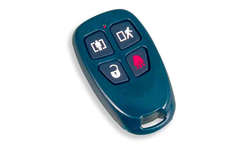 Imagen de la llave inalámbrica de cuatro botones (WS4939) de la marca DSC.